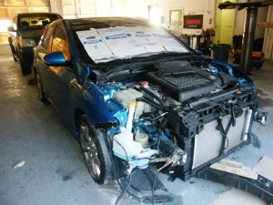 Before body repair: Mazda